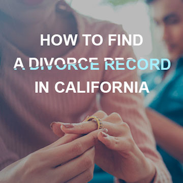 California Divorce Record