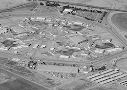 Aerial view of Avenal State Prison (ASP)